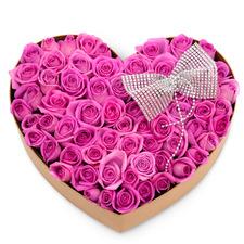 핑크하트(100송이)
