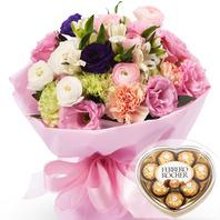 발렌타인데이 특가 꽃다발+초콜릿